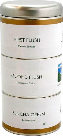 Gopaldhara Premium First, Second Flush and Sencha Green Tea Caddy