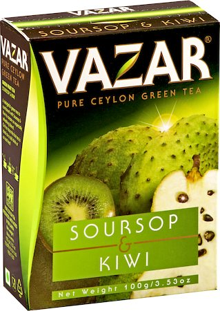 Vazar Soursop & Kiwi Green Tea, Loose Leaf 100 gm