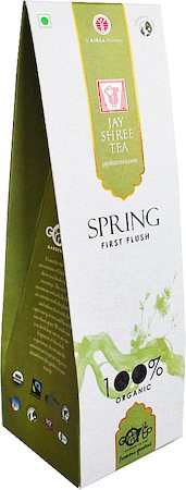JayShree Darjeeling Spring First Flush Organic Black Tea, Whole Leaf 100 gm