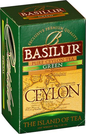 Basilur The Island of Tea Ceylon Green (20 tea bags)