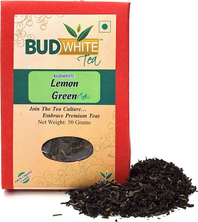 Budwhite Lemon Green Organic Loose Full-Leaf Tea 50 gm