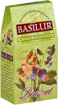Basilur Bouquet Green Freshness Loose Leaf Tea 100 gm