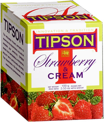 Tipson Strawberry & Cream Loose Leaf Tea 100 gm