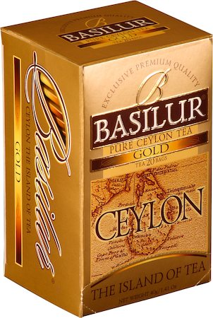 Basilur The Island of Tea Ceylon Gold (20 tea bags)