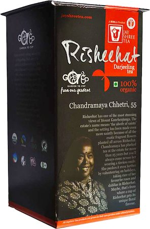 JayShree Darjeeling Risheehat Organic Black Tea, Whole Leaf 100 gm