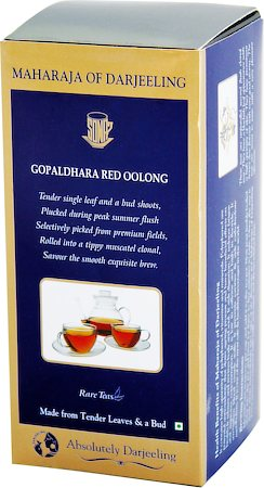 Gopaldhara Red Oolong Maharaja of Darjeeling, Loose Leaf Tea 50 gm