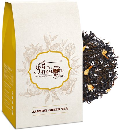 The Indian Chai - Jasmine Green Tea, Loose Whole Leaf 100 gm