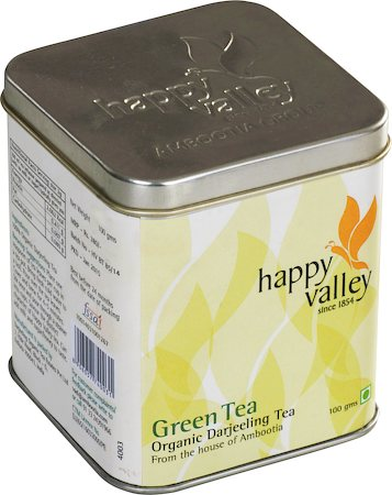 Happy Valley Organic Darjeeling Green Tea, Whole Leaf 100 gm