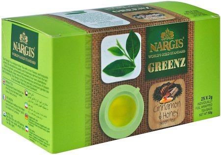 Nargis Greenz Cinnamon Honey Organic Green Tea (25 tea bags)