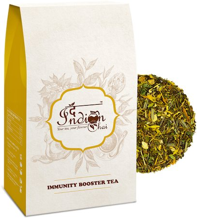 The Indian Chai - Immunity Booster Green Tea, Loose Whole Leaf 100 gm