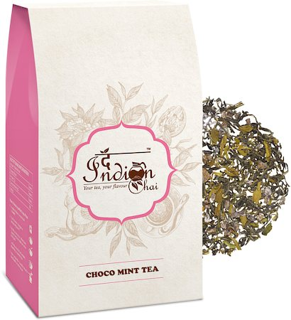 The Indian Chai - Choco Mint Black Tea (Premium Darjeeling), Loose Whole Leaf 100 gm