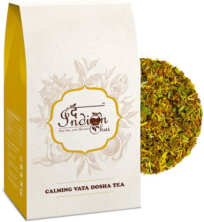 The Indian Chai - Calming Vata Dosha Ayurvedic Green Tea, 100 gm