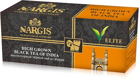 Nargis Elite Blended Assam Darjeeling High Grown Black Tea of India (25 tea bags)