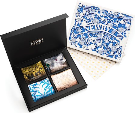 Newby Season's Greetings Silken Pyramids Selection - Gift Box (4x5 Pyramid tea bags)