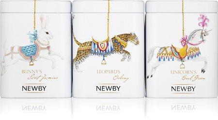 Newby Green Tea Carousel - Assorted Tea Gift (3 mini-caddies)
