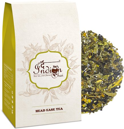 The Indian Chai - Head Ease Herbal Green Tea, 100 gm