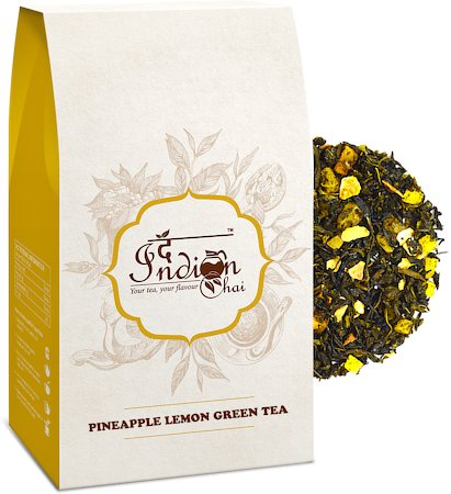 The Indian Chai - Pineapple Lemon Green Tea, Loose Whole Leaf 100 gm