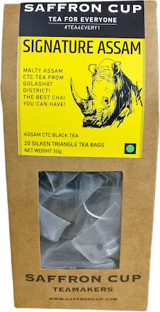 Saffron Cup Signature Assam Black Tea (20 Pyramid tea bags)
