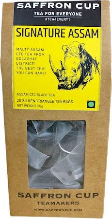 Saffron Cup Signature Assam Black Tea (20 Pyramid tea bags)