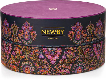 Newby Black Tea Crown Assortment - Circular Luxury Gift Box (36 finest tea bags)