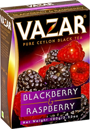 Vazar Blackberry & Raspberry Black Tea, Loose Leaf 100 gm