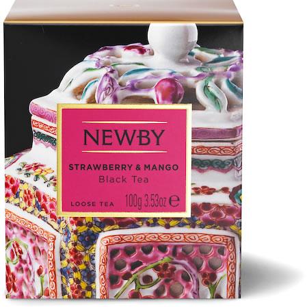 Newby Heritage Strawberry & Mango Loose Leaf Black Tea, 100 gm Carton