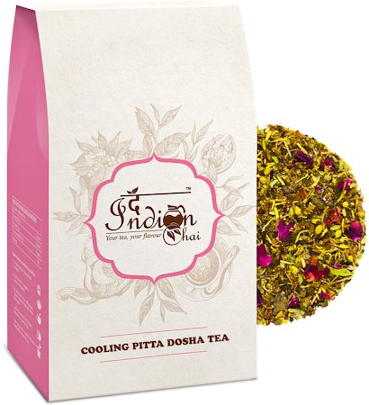The Indian Chai - Cooling Pitta Dosha Ayurvedic Green Tea, 100 gm