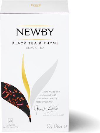 Newby Black Tea and Thyme (25 tea bags)