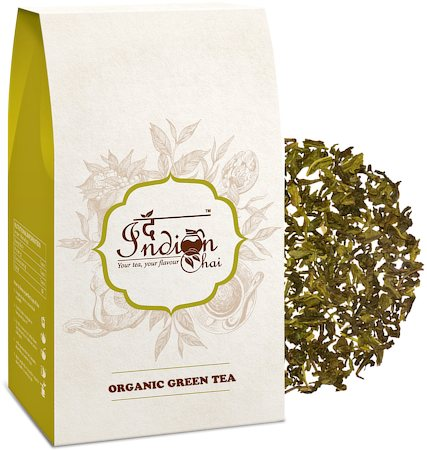 The Indian Chai - Pure Darjeeling Organic Green Tea, Loose Whole Leaf 100 gm