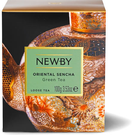 Newby Heritage Oriental Sencha Loose Leaf Green Tea, 100 gm Carton