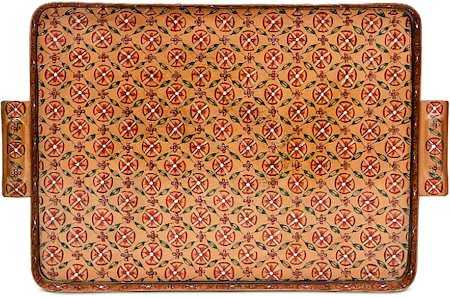 Kaushalam Hand-Painted Tray - Brown