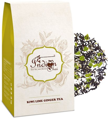 The Indian Chai - Kiwi Lemon Ginger Black Tea, Loose Whole Leaf 100 gm