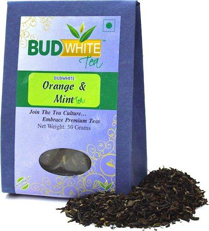 Budwhite Orange and Mint Organic Loose Full-Leaf Tea 50 gm