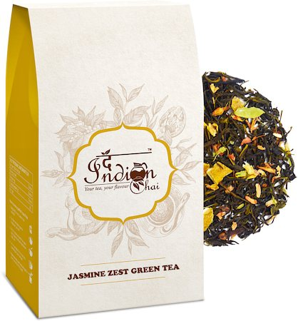 The Indian Chai - Jasmine Zest Green Tea, Loose Whole Leaf 100 gm