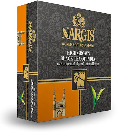 Nargis Assam Darjeeling Blended High Grown Black Tea of India (100 tea bags)