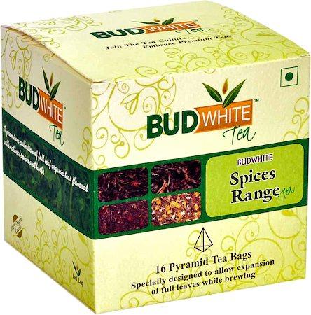 Budwhite Spices Tea Combo (16 Pyramid tea bags)