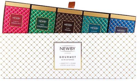 Newby Gourmet Miniatures Black and Green Teas - Gift Box (5 mini-caddies)