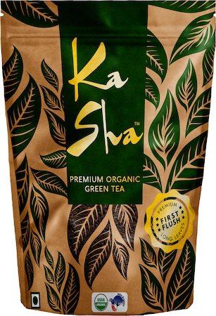 Kasha Premium Organic Loose Leaf Green Tea, 100 gm