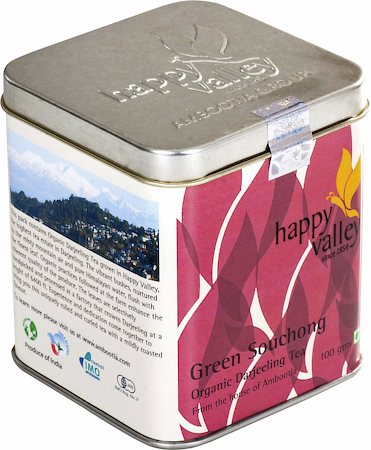 Happy Valley Organic Darjeeling Souchong Green Tea, Rounded Leaf 100 gm
