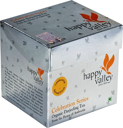 Happy Valley Organic Darjeeling Premium Second Flush Black Tea, Whole Leaf 100 gm