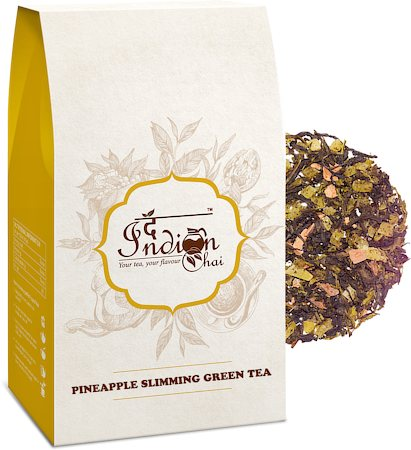 The Indian Chai - Pineapple Slimming Green Tea, Loose Whole Leaf 100 gm
