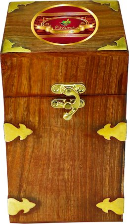 Octavius Whole Leaf Assam Black Tea - Vintage Gift Wooden Box, 200 gm