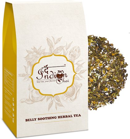 The Indian Chai - Belly Soothing Herbal Green Tea, 100 gm
