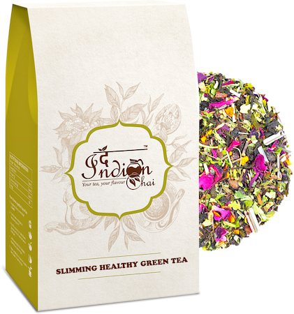 The Indian Chai - Slimming Healthy Green Tea, Loose Whole Leaf 100 gm