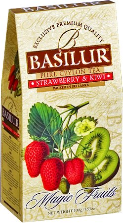 Basilur Magic Fruits Strawberry and Kiwi Loose Leaf Tea 100 gm