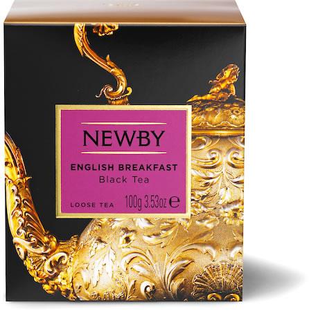 Newby Heritage English Breakfast Loose Leaf Tea, 100 gm Carton