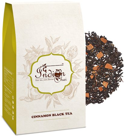 The Indian Chai - Pure Assam Cinnamon Black Tea, Loose Whole Leaf 100 gm
