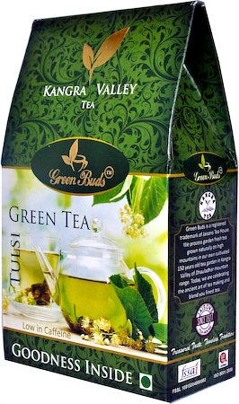 GreenBuds Kangra Tulsi Green Tea, Loose Leaf 150 gm