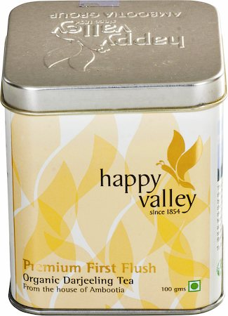 Happy Valley Darjeeling Organic Premium First Flush Black Tea, Whole Leaf 100 gm
