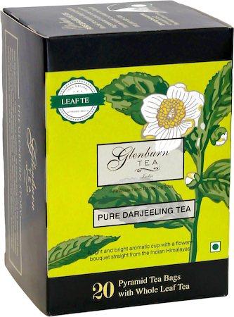 Glenburn Pure Darjeeling Tea, Whole Leaf (20 Pyramid tea bags)